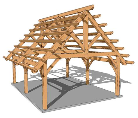 foot timber frame pavilion plan timber frame hq