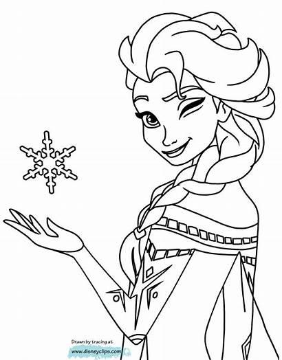 Elsa Coloring Frozen Pages Pdf Cartoon Colouring