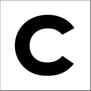 lowercase c clipart clip alphabet set 00 c lower bw i abcteach