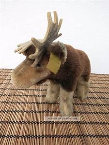 Steiff Tiere Alt : steiff elch moosy mit knopf und fahne nr 1314 00 vintage alt ~ Watch28wear.com Haus und Dekorationen