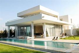 Modern Houses With Pool Exterior Modern White Agua House With