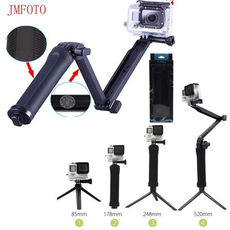 jmfoto for gopro accessories tripod 3 way monopod mount extension arm tripod for gopro 6 5