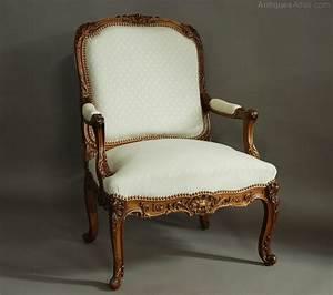 French Late 19th Century Walnut Fauteuil Chair Antiques