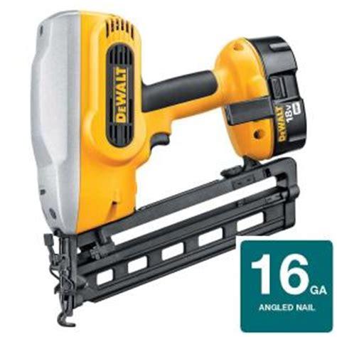 home depot dewalt floor nailer dewalt 18 volt xrp nicd cordless 16 20 degree angled