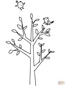 spring tree coloring page  printable coloring pages