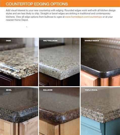 Granite Countertops Options by Countertop Edge Options Quartz Kitchen Countertops