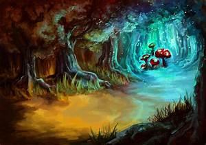 magic mushrooms-completed by tsepei on DeviantArt