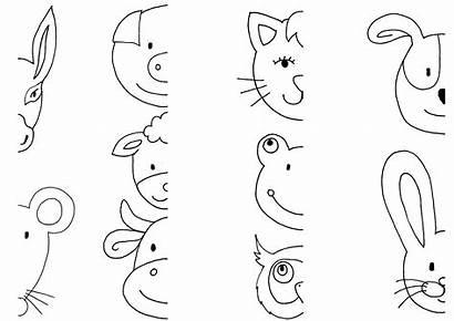 Animal Mewarnai Gambar Coloring Heads Sehat Painted