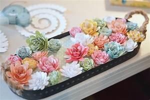 Paper Flower Spring Centerpiece - The Happy Scraps