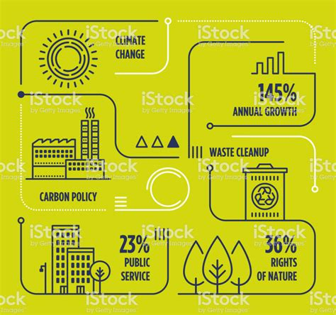 Vector infographic line design elements for climate change ...