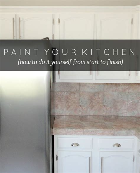 steps to paint kitchen cabinets how to paint kitchen cabinets in 10 easy steps this 8345
