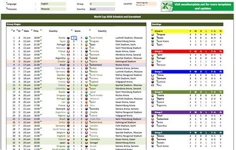 world cup schedule  scoresheets exceltemplatenet
