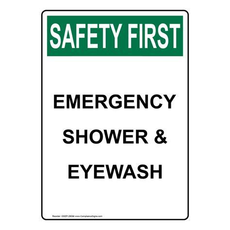 safety shower definition emergency shower signs brushed nickel shower