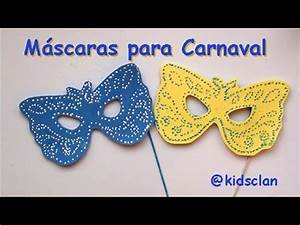 Máscaras de Carnaval - Manualidad - YouTube