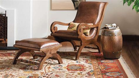 Augusto Chair and Ottoman   Traditional, The office and