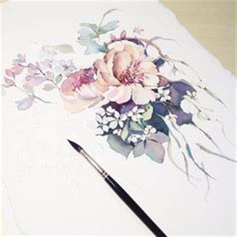 aquarell burgund florale elemente pfingstrosen und rosen