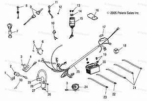 Polaris Atv 2005 Oem Parts Diagram For Electrical Parts   Cb  Cc