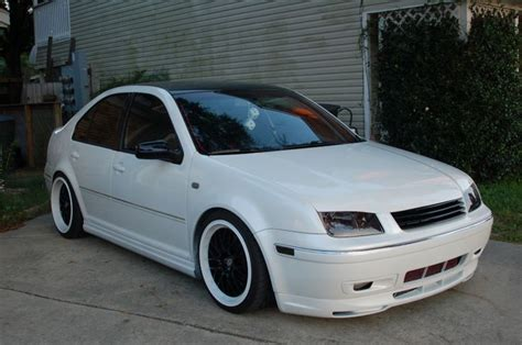 Clean White On Black Jetta