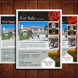for sale real estate marketing open house flyer template With real estate for sale flyer template