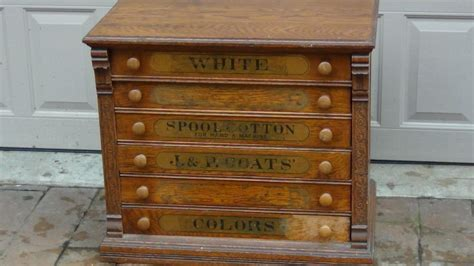 antique spool cabinet value antique 1890 j p coats oak with alder and poplar 6
