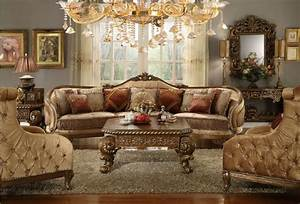 HD 458 Homey Design Upholostered Sectional Victorian