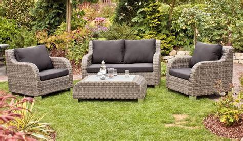 Garten Lounge Set Geflechtgruppe Brighton 4teilig Inkl
