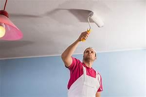 comment peindre un plafond dans faire de traces With peindre un plafond sans traces