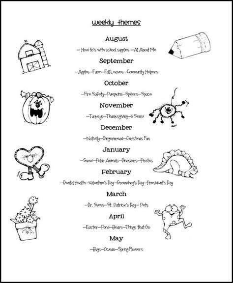 weekly themes class pre k curriculum preschool 987 | 87eae980bf3ff9d1116fda4c39466dbc