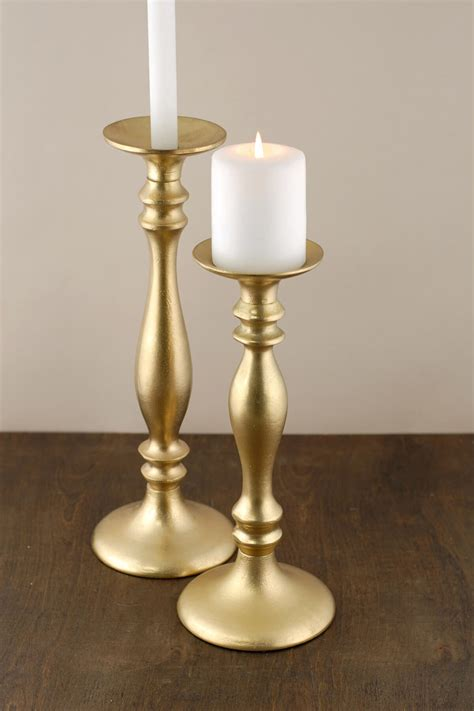 Candle Holders by Pillar Candle Holder Gold 15 5in