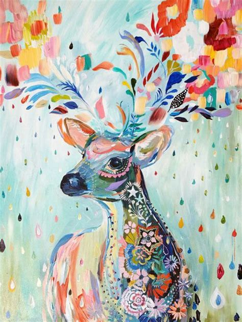 deer abstract painting art pinterest deer abstract