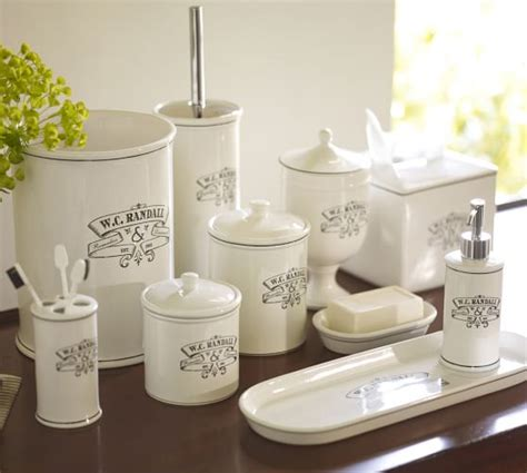 Black & White Apothecary Bath Accessories  Pottery Barn
