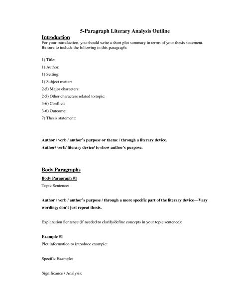 paragraph template 3 types of 5 paragraph essays