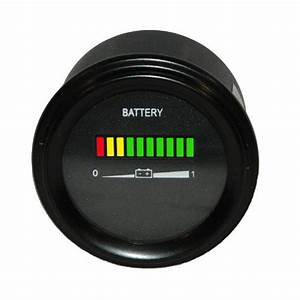 36 Volt Ezgo Battery Indicator  Meter  Gauge