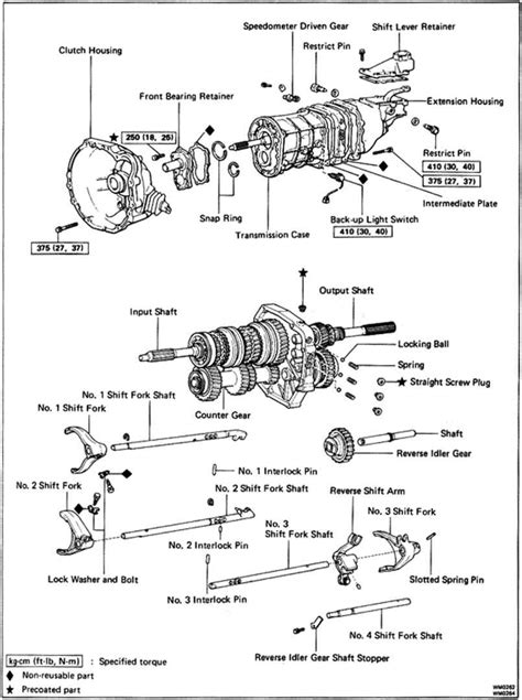 1990 Toyotum Supra Engine Diagram by Toyota W58 Transmission Diagram Toyota Auto Parts