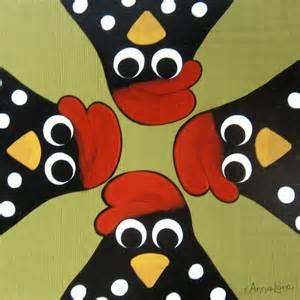Whimsical Chicken Art