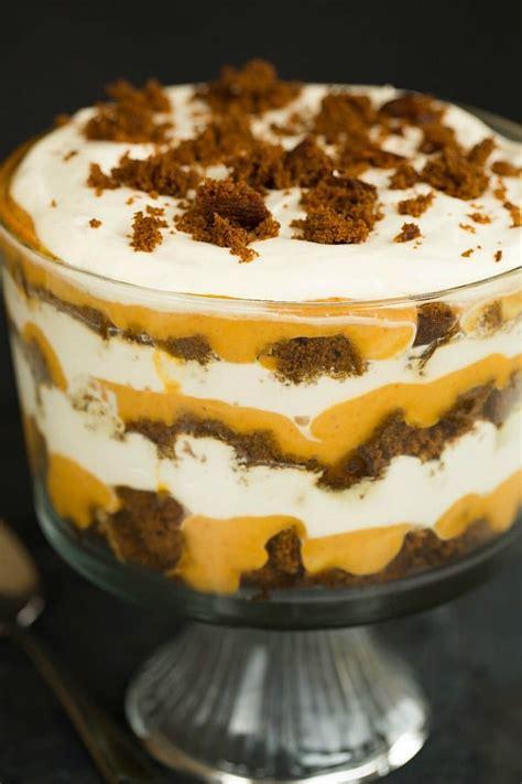 trifle recipe pumpkin gingerbread trifle recipe thanksgiving recipes