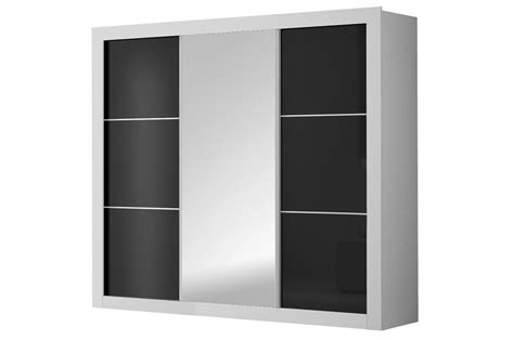 chambre  coucher moderne blanc  noir laque cbc meubles