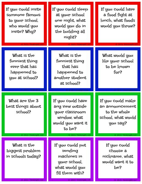 School Questions by About School Conversation Starters Valentines Day