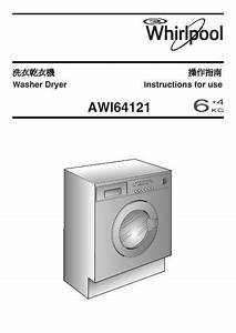 Whirlpool Awi 64121 Washer Dryer