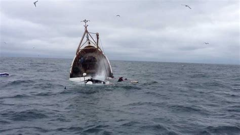 Work On Fishing Boat Ireland by Incredible Video Prawn Trawler Sinks In Cold Irish Sea