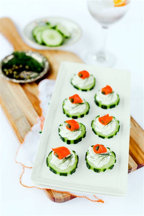canape appetizer smoked salmon cucumber canapés evite