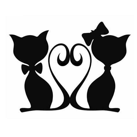 cats  love cats sticker decal  black  silver