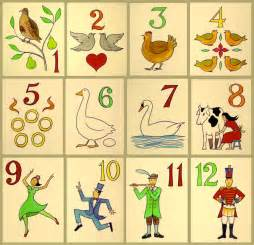 12 Days Christmas Number Gifts
