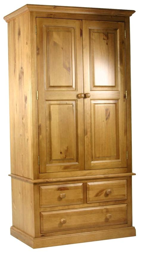 Solid Pine Wardrobe by Primrose Solid Pine Bedroom Furniture Wardrobe With