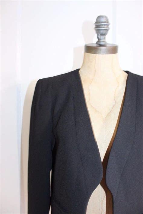 zara cropped black blazer tradesy