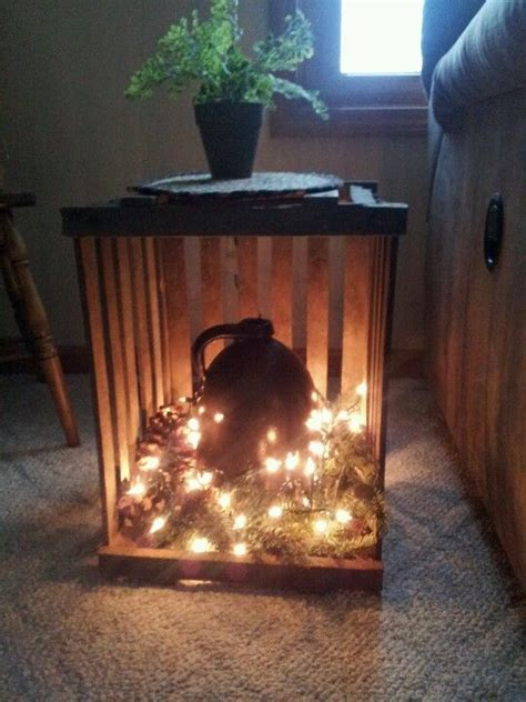 diy primitive end tables with egg crates.   Home Ideas
