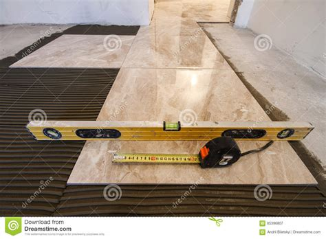 tools needed for tile installation ceramic tiles and tools for tiler floor tiles installation hom stock image image 85396807
