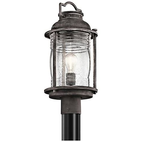"Kichler Ashland Bay 19"" High Zinc Outdoor Post Light"