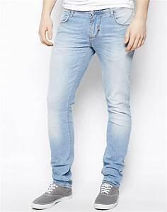 Mens Light Blue Skinny Jeans - Bod Jeans