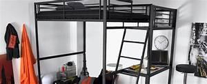 Lit Mezzanine 2 Places Avec Bureau : le lit mezzanine avec bureau c 39 est pratique mag maison ~ Melissatoandfro.com Idées de Décoration